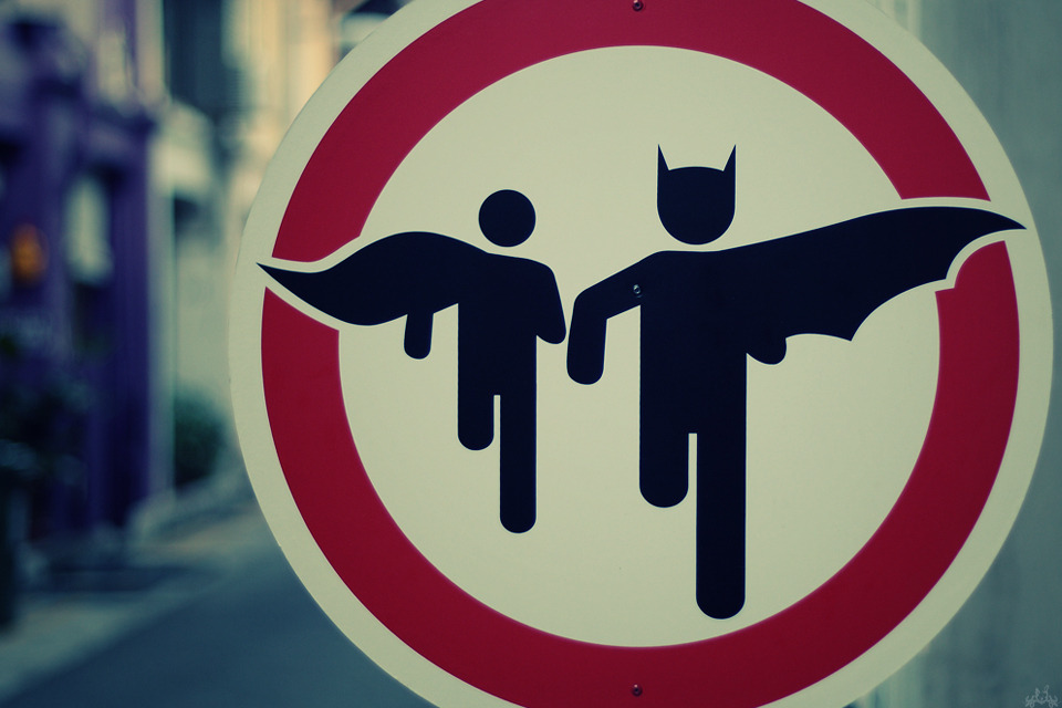 Street Art, Batman and Robin