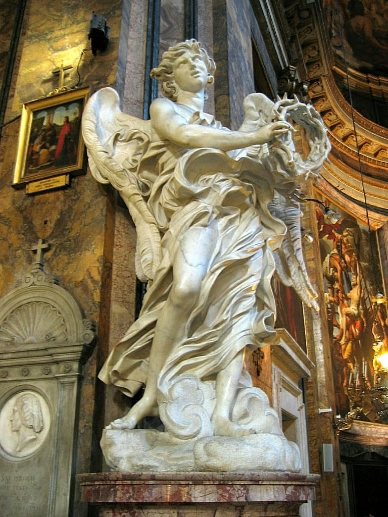 fckyeaharthistory:  Gian Lorenzo Bernini - The Angel with the Crown of Thorns, 1668-71. Marble
