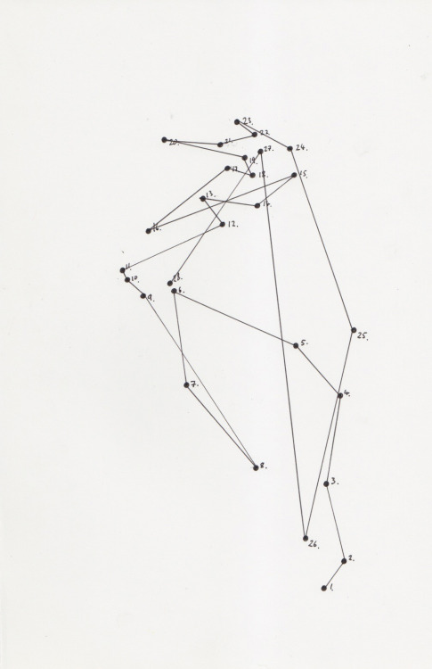 diagramism:  SURPRISE ABSTRACT DOT-TO-DOT by diagramism (pen on paper)