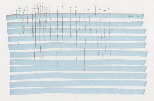 float level by diagramism (pen, pencil and paint on paper)
