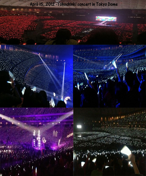 jungbangingyoursanity:  (041512) Tohoshinki in Tokyo Dome The beautiful Red Ocean and White Ocean.