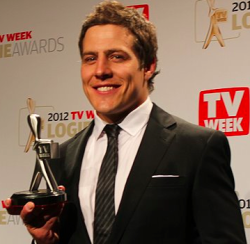 'I AM STARSTRUCK'S 2012 LOGIES PICTORIAL BONANZA - 'HOME & AWAY' RIVER BOY STEVE PEACOCKE WINS MOST POPULAR NEW MALE TALENT At 'I Am Starstruck', the TV Week Logie Awards are our annual television highlight of the year! So to be blogging live and presenting to you the latest, hottest and best content from the prestigious Australian television awards is our absolute pleasure! This is the annual event which celebrates and embraces the diversity of the Australian television industry …. so what are you waiting for? Check out all of the hot frocks & shocks from the red carpet and all of the action from the awards at Melbourne's Crown Casino… right here at 'I Am Starstruck' : Your No. 1 Online Destination for the 2012 Logies !! Image Source: Yahoo!7