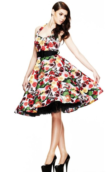 Check out this beautiful new Hell Bunny Mexico swing dress - for any rockabilly/dia de los muertos fans out there, this one is for you! Available in sizes 8 - 22 Available on ebay and from Kate's Clothing: http://www.katesclothing.co.uk/Hell-Bunny-Mexico-50s-Swing-Dress-p/mrc4176mex.htm