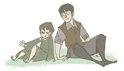 """You don't. You stink."" Arya shoved him back against the anvil and made to run, but Gendry caught her arm. She stuck a foot between his legs and tripped him, but he yanked her down with him, and they rolled across the floor of the smithy. He was very strong, but she was quicker. Every time he tried to hold her still she wriggled free and punched him. Gendry only laughed at the blows, which made her mad. He finally caught both her wrists in one hand and started to tickle her with the other, so Arya slammed her knee between his legs, and wrenched free. Both of them were covered in dirt, and one sleeve was torn on her stupid acorn dress. ""I bet I don't look so nice now,"" she shouted.""  One of my favorite parts from ASoS. TOO CUTE!"