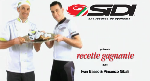 inrng:  Sidi are still serving up the ad with Ivan Basso and Vincenzo Nibali for 2012.  またかw