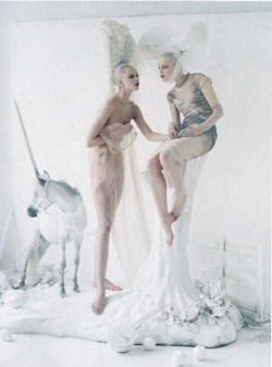 Frida Gustavsson and Mirte Maas by Tim Walker for Vogue US May 2012