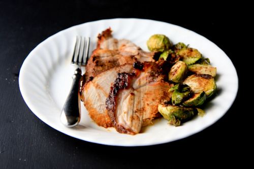 maple-mustard glazed pork roast.