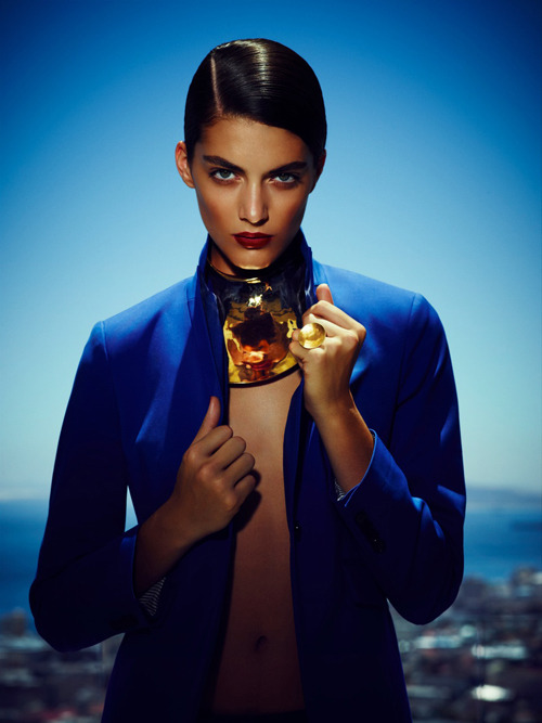 Katryn Kruger | James Meakin | Stella April 2012 | So Who's Feeling Blue?  everything about this captures me