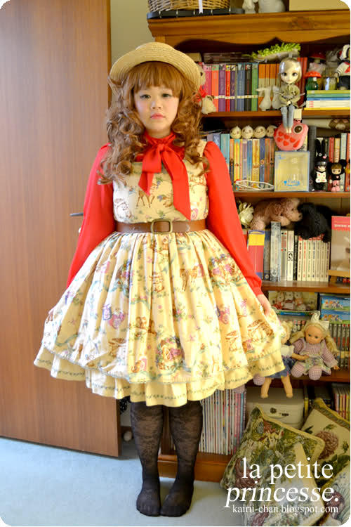 kairii:  Hat: TEMT, Australia Blouse: Vintage Dress: Forest Harvest by Innocent World, Japan Belt: TEMT, Australia Tights: Target, Australia