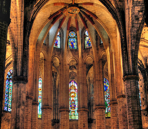 travelingcolors:  Basilica de Santa Maria del Mar, Barcelona | Spain (by NatashaP)