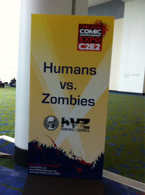 Also something cool at C2E2. Good times hosting the HvZ brain trust.