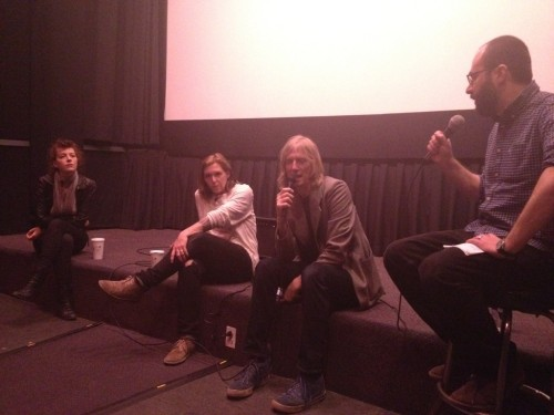 I grill Melissa, Patty and Eric at last night's Hit So Hard post-screening Q&A in New York. Thanks to all who came! (Photo: Mel Gottshall)