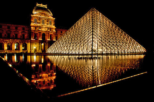 I.M. Pei. Grand Louvre Pyramid. Paris, France. 1988.