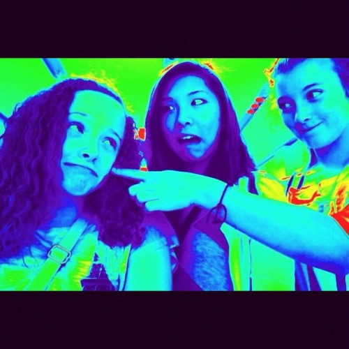 Hahaha me, Christine, and Joanna at the apple store!! #social #friends #fun #nothingbutlaughs #discoshopping (Taken with Instagram at Apple store)