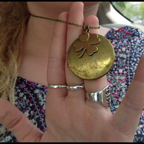 Thrift shop find #nyc #thriftshop #lucky #irish #locket (Taken with instagram)