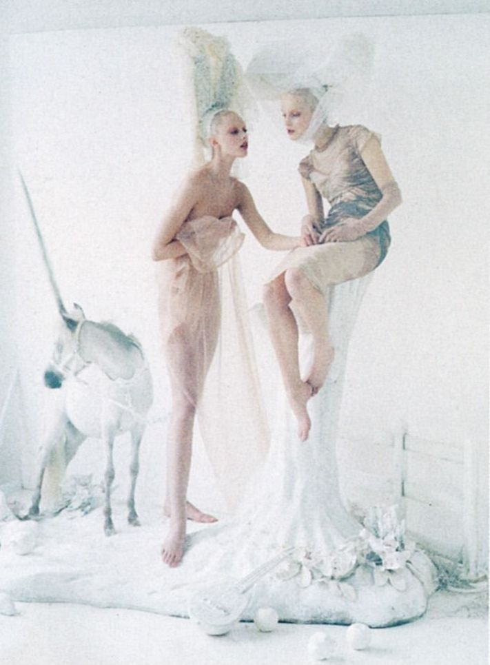 Frida Gustavsson & Mirte Maas by Tim Walker for Vogue US May 2012