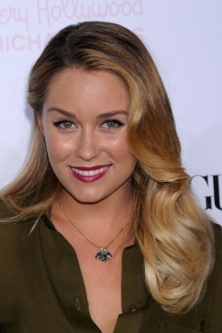 Loving her ombre diagonal blond blend and red lips xxoo Lauren Conrad