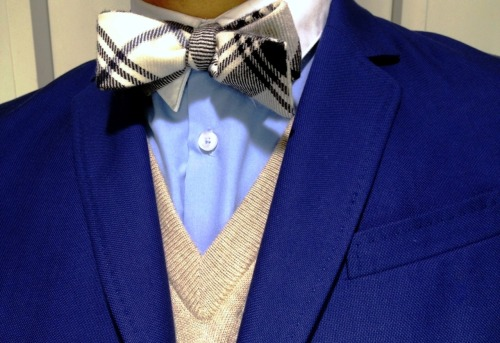 todaystie:  Paul Smith shirt - Black fleece bow tie- Vince sweater - Carven jacket