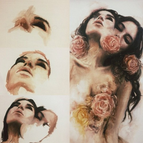 charmaineolivia:  steps  Roses and Figures, two beautiful things combined into one..!?!
