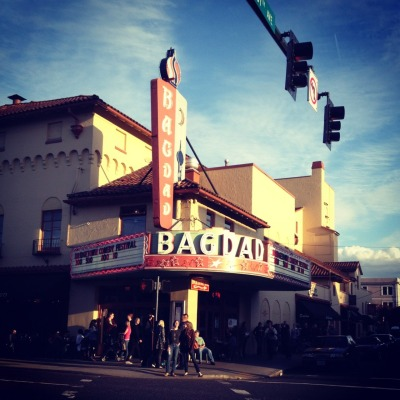 Bagdad Theater. A gem of a place. Watch great films, music and performances while drinking beer and eating pizza. Portland, OR culture.