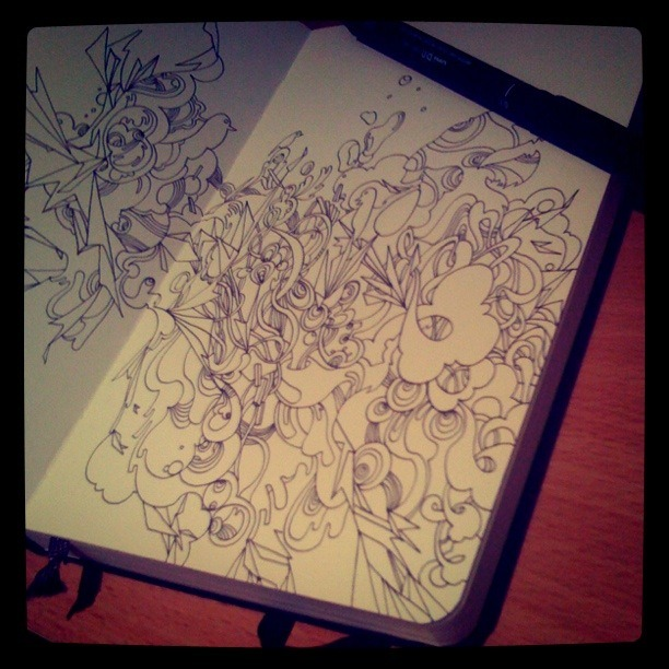 A sketch from my moleskin notebook.