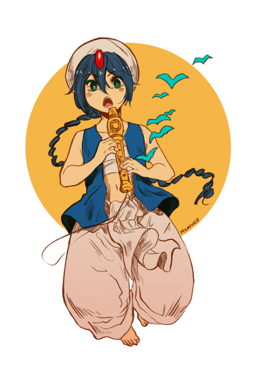 moaniecat:  Aladdin is the Magi character I'm motivated to draw the most. Oddly enough my favorite is Sinbad (esp with Alibaba /shot).