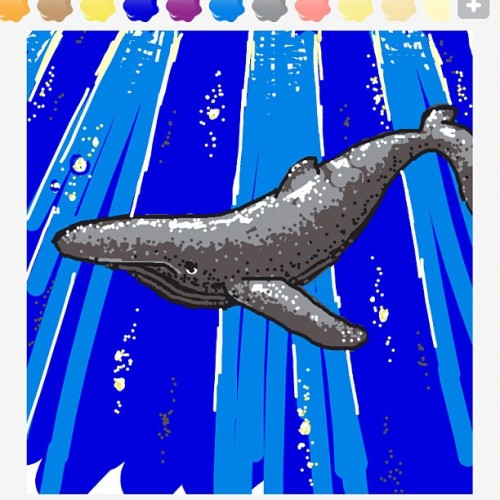 My Draw Something Whale #drawsomething #nature #geek (Taken with instagram)