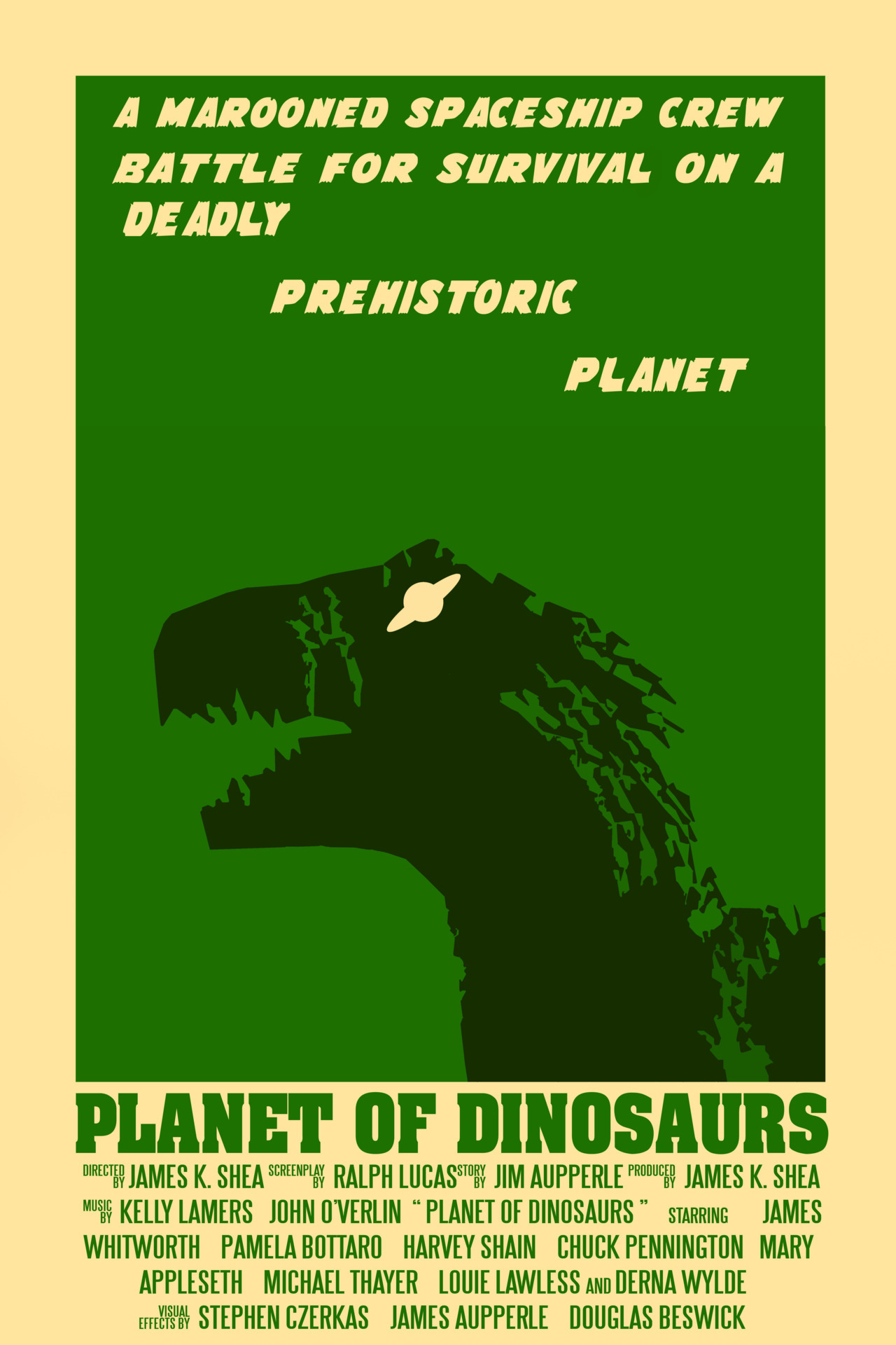 Some poster based on PLANET OF DINOSAURS, a 1978 masterpiece :D