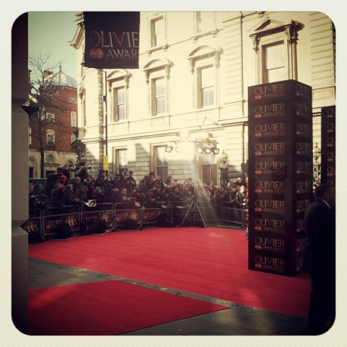 red carpet at #Oliviers2012 #pricelessLondon  (Taken with instagram)
