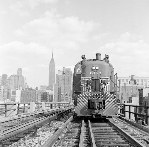 The High Line of the New York Central Railroad. The High Line runs 30 ft. in the air, through the center of buildings and warehouses. This allowed for transportation of goods without increased street traffic. The last train ran along the High Line in 1980.