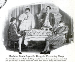 A hum-emitting sleep machine, Popular Science, September 1928