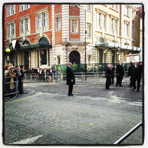closed streets and a lot of security at #Oliviers2012 #pricelessLondon  (Taken with instagram)