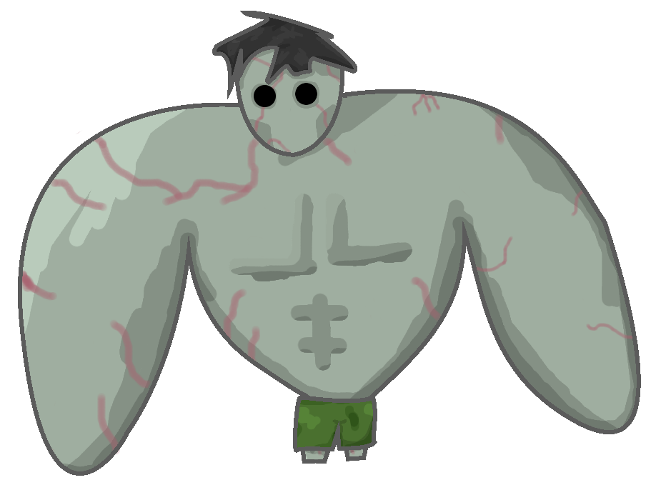 This is a quick drawing I did of the Tank from Left 4 Dead :) I can't draw muscles, so I just made him rounded… :)