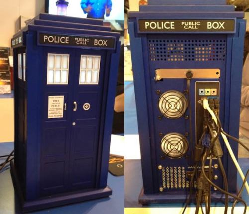 doctorwho:  TARDIS PC Case queentimelady:  An official TARDIS PC is being released by Scan computers. It not cheap at £745.99, but at least you'll never run out of hard drive space.