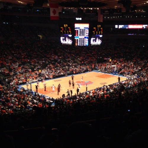 Knicks vs. Heat #knicks #heat #basketball  (Taken with instagram)