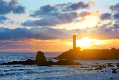 Pacific Sunset - Pigeon Point Lighthouse, California by Darvin Atkeson on Flickr.visions of Dreams