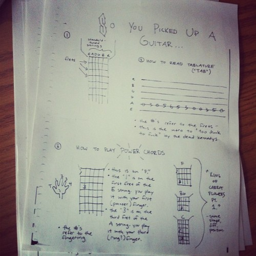 Teaching a group beginner guitar class in 10 mins. (Taken with Instagram at P 4-5)