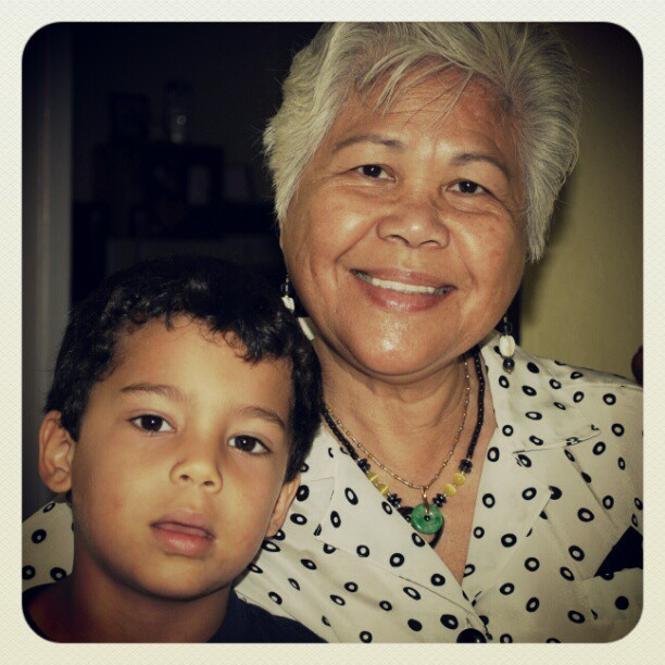 Jerremiah and grandma. (Taken with instagram)