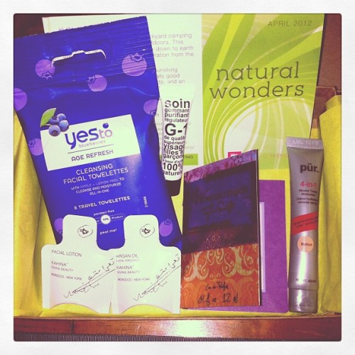 Quick look at my April @birchbox (Taken with instagram)