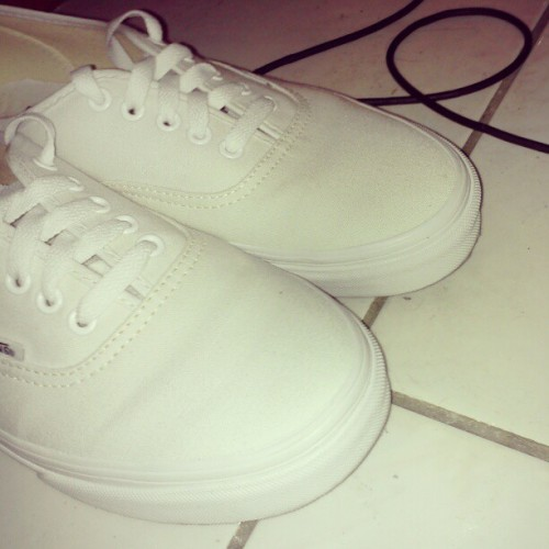Renewed white kicks (Taken with instagram)