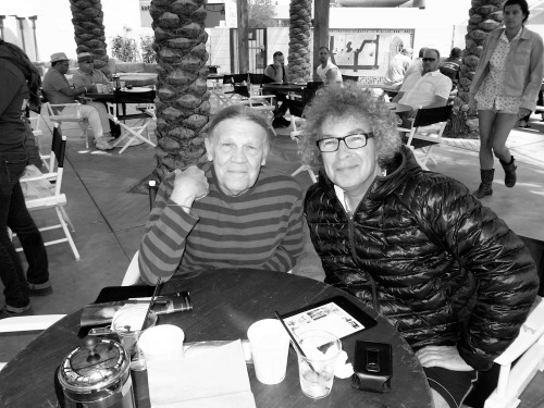 Early morning breakfast with living legend, photographer Henry Diltz at the Ace Hotel in Palm Springs yesterday.  Photo: Brad Elterman Archives