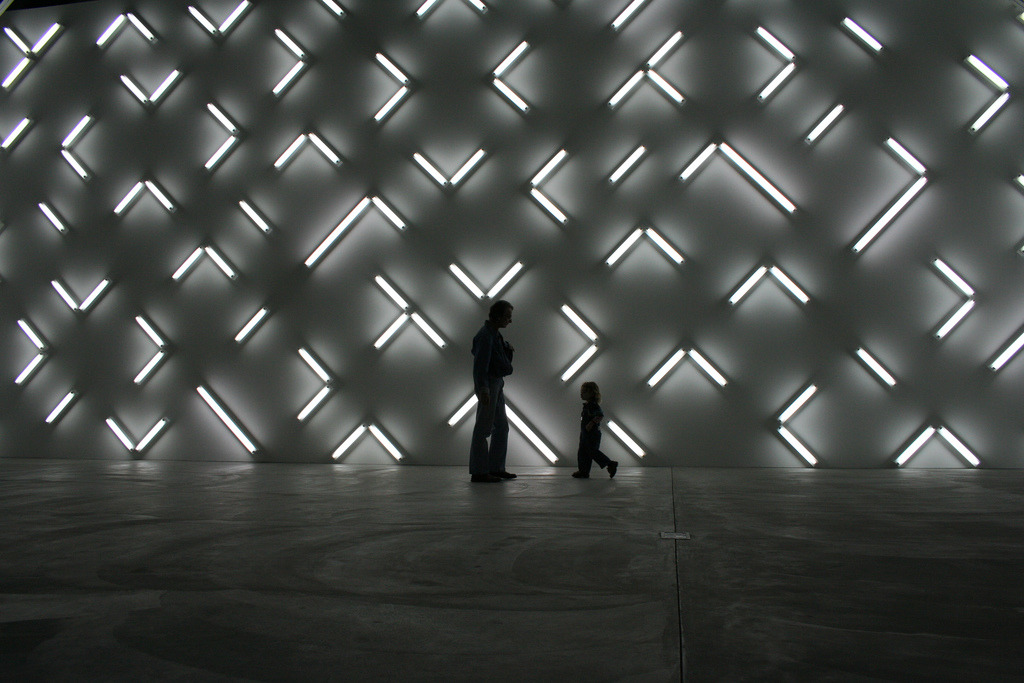 Light and Space, an installation by artist Robert Irwin, Museum of Contemporary Art, San Diego, 2007.