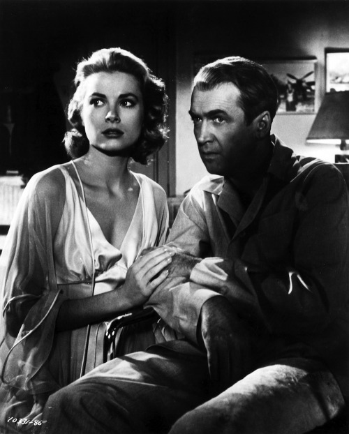 Grace Kelly and James Stewart, in Rear Window.  On my top ten favorite movies list.