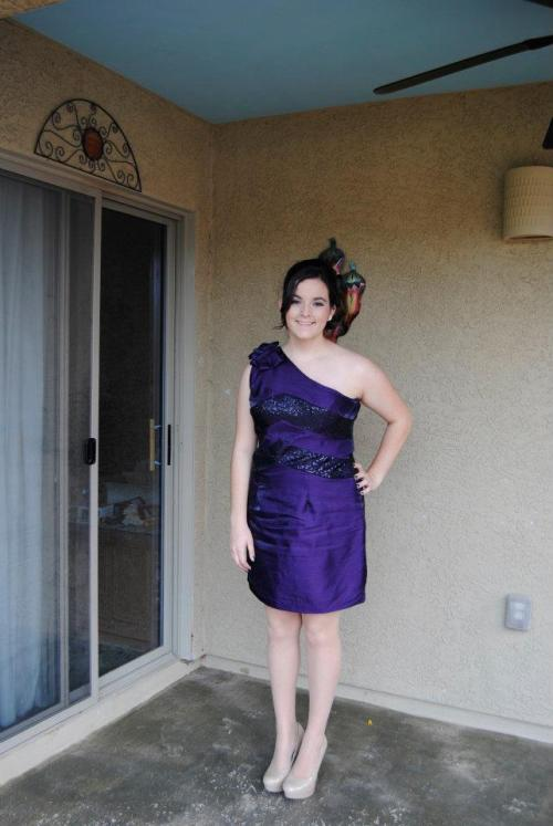 During photo. 15 lbs down. :)  My mom made my prom dress two weeks ago, and I lost so much between then and yesterday that she had to remake it.   I felt beautiful.