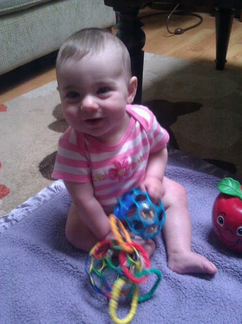 lilyranallo:  Sitting up on my own. Playing. No big deal.