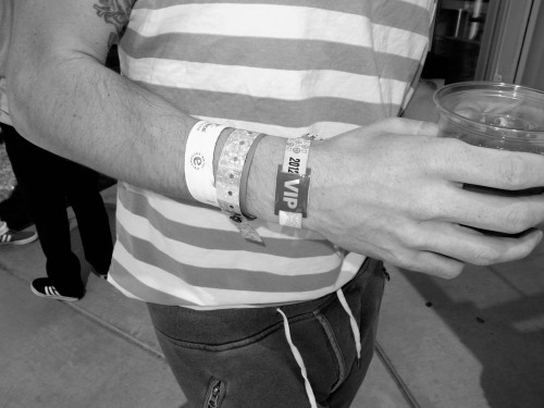 The wristbands are getting a bit out of control here! Enjoy your Sunday!! Photo by Brad Elterman