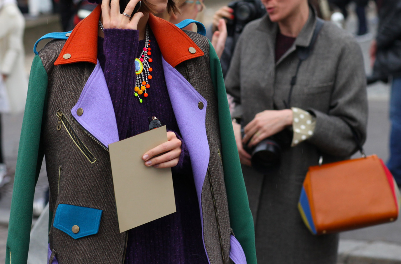That jacket is flawless! Paris Fashion Week Streetstyle