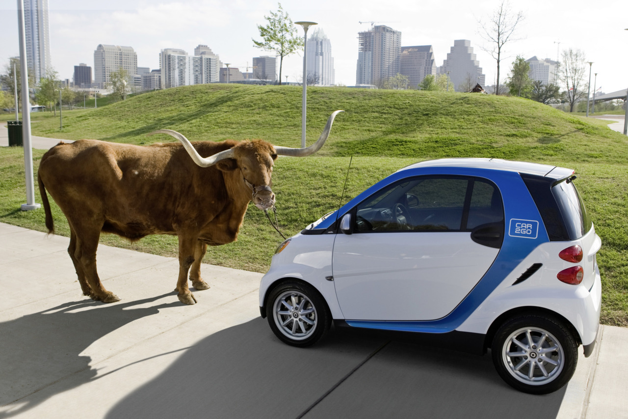This image is Austin, in a nutshell. shaneguiter:  Car2Go - Austin