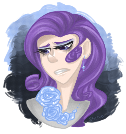 Wow, I think this is like the 2nd time I've ever drawn Rarity. I don't like drawing her hair very much. :I
