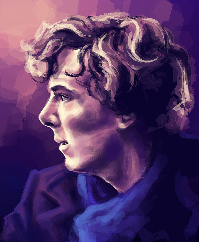 "sundaytrains:  20 Days of Sherlock | day one, favourite male character ""When you have eliminated the impossible, whatever remains, however improbable, must be the truth."""